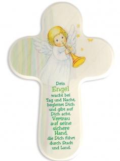 Kinderkreuz Schutzengel Dein Engel wacht 16 cm Wandkreuz Kreuz Holzkreuz
