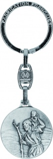 Schlüsselanhänger Christophorus Metall 9 x 3 cm