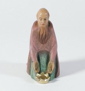 Gelenberg Krippe König kniend 14 cm Krippen Figur Weihnachten