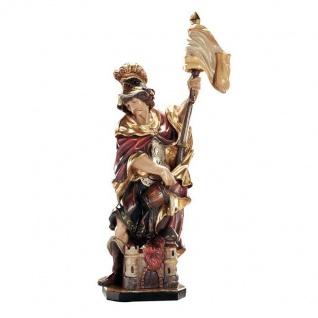 Heiliger Florian Holzfigur geschnitzt Südtirol Schutzpatron Heiligenfigur