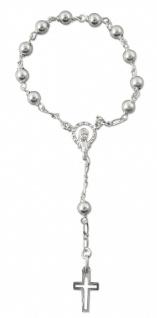 Zehner-Rosenkranz Sterlingsilber Perle 5 mm 13 cm Auto-Rosenkranz Rückspiegel