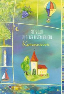 Geldgeschenkkarte Kommunion Alles Gute (6 Stck) Grußkarte Erstkommunion Kuvert