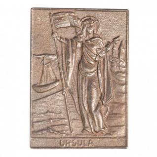 Namenstag Ursula 8 x 6 cm Bronzeplakette Bronzerelief Wandbild Schutzpatron