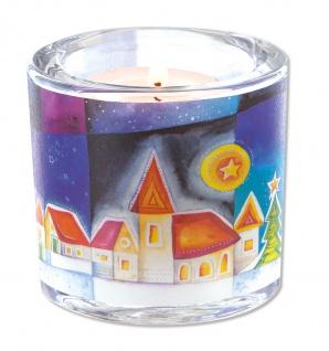 Glaswindlicht Winterzeit Teelicht Kerzenhalter Geschenkbox Glas für Windlicht