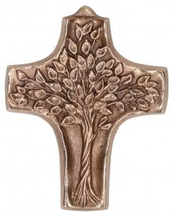 Kommunionkreuz Lebensbaum 9, 5 cm Bronze Erstkommunion Kruzifix Kreuz