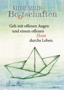 Postkarte Kleine Seelen Bootschaften (10 St) Papierboot Nicole Weidner