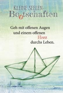 Klappkarte Kleine Seelen Bootschaften (6 Stück, Kuvert) Nicole Weidner Grußkarte