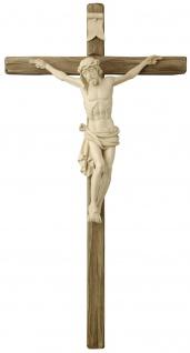 Dolomiten Kruzifix Lindenholz Korpus geschnitzt Südtiroler Schnitzkunst
