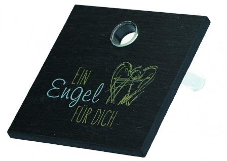 Engel Bild Ein Engel für dich Schiefer mit Vase aus Glas 10 cm Geschenkbox