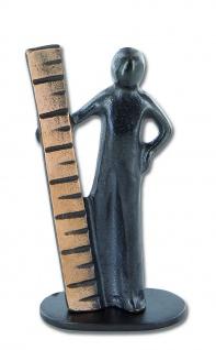 Bronzefigur Maß der Dinge 8 cm Bronze Figur Bronzeskulptur