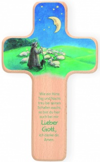 Kreuz für Kinder Guter Hirte 18 cm Kruzifix Holz-Kreuz Geschenkbox