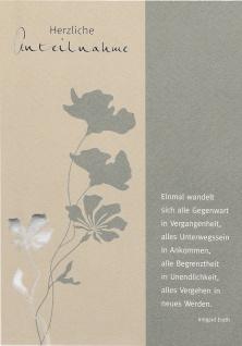 Trauerkarte Herzliche Anteilnahme (6 Stck) Blumen Beileidskarte Kondolenzkarte