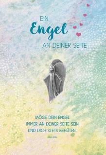 Grußkarte Geburtstag 5 St Kuvert Engel-Handschmeichler Heidi Rose Feinmetall