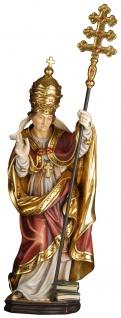 Heiliger Leo I. der Große Holzfigur geschnitzt Südtirol Schutzpatron