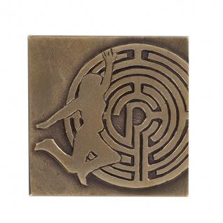 Bronzeplakette zur Konfirmation Labyrinth