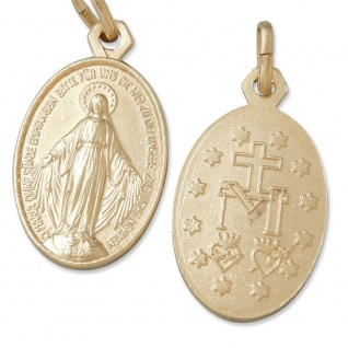 Wunderbare Wundertätige Medaille goldfarben 1, 9 cm Schmuckanhänger