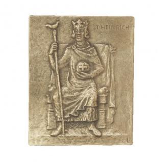 Namenstag Heinrich Heiko 13 x 10 cm Bronzerelief Wandbild Schutzpatron