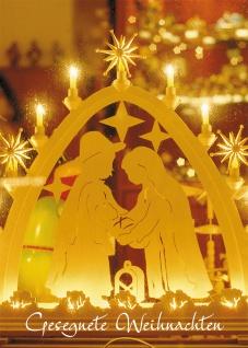 Glückwunschkarte Gesegnete Weihnachten (6 St) Lichterbogen Grußkarte Kuvert