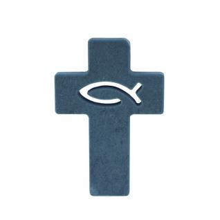 Wandkreuz Schiefer Kreuz Fisch Ichthys 11 cm Symbolkreuz Kruzifix Christlich