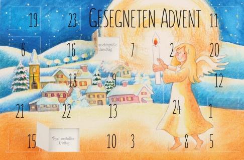 Adventskalender-Karte Gesegneten Advent (6 Stück) Grußkarte Weihnachtskarten
