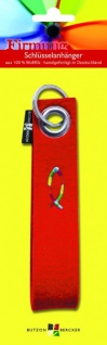 Schlüsselband Ichthys Jesus 13 cm Wollfilz Fisch Anhänger