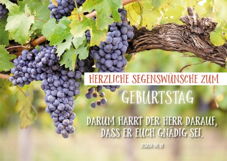 Postkarte Geburtstag Jesaja Trauben 10 St Adressfeld Bibelwort Segen Weinstock