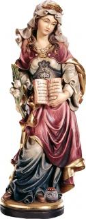 Heilige Saturnina mit Salbentopf Holzfigur geschnitzt Südtirol Märtyrerin