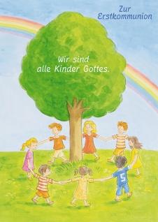 Kommunionkarte Kinder Gottes Zur Erstkommunion (6 St) Glückwunschkarte Kommunion