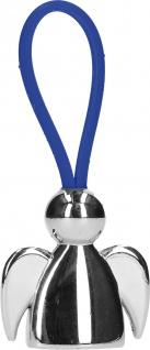 Schlüsselanhänger Schutzengel blaues Kautschukband 7, 5 cm Geschenkverpackung