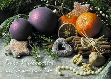 Postkarte Frohe Weihnachten Neues Jahr (10 Stck) Dekoration Weihnachtskarte