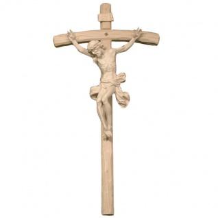 Kruzifix Corpus mit Kreuz Holz geschnitzt Südtirol Wandkreuz