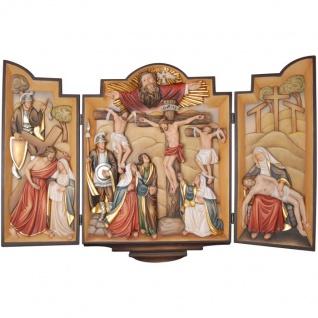 Passionsflügelaltar Holzfigur geschnitzt Südtirol Heiligenfigur
