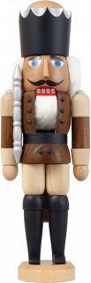 Nussknacker König Esche lasiert braun 29 cm Holz-Figur Handarbeit Erzgebirge