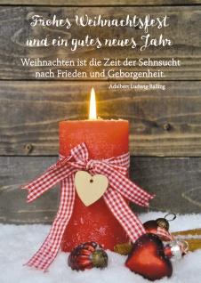 Postkarte Weihnachten Adalbert Ludwig Balling Neujahrswunsch (10 Stück )