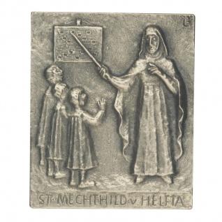 Namenstag Mechthild Bronzeplakette 13 x 10 cm Bronzerelief Wandbild Schutzpatron