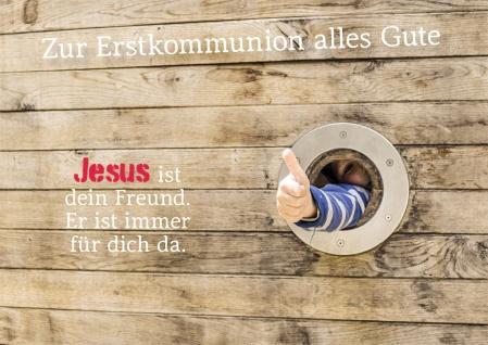 Glückwunschkarte Daumen hoch Erstkommunion Alles Gute (6 St) Grußkarte Kuvert