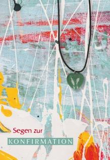 Glückwunschkarte Konfirmation Herz-Edelstein-Anhänger Aventurin 5 St Kuvert
