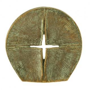 Stehkreuz Durchbrechendes Licht edelpatiniert 8 cm Bronze Christliches Kreuz