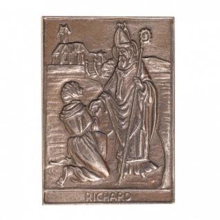 Namenstag Richard 8 x 6 cm Bronzeplakette