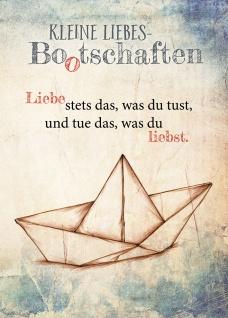 Postkarte Kleine Liebes Bootschaften (10 St) Papierboot Nicole Weidner Grußkarte