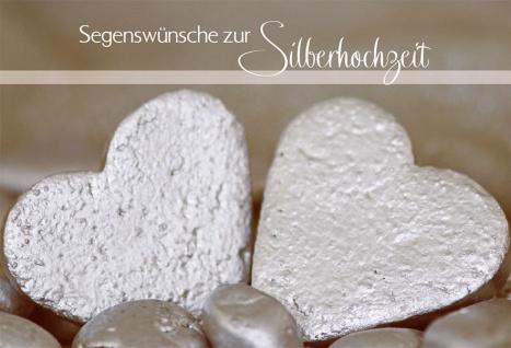 Hochzeitskarte Segenswünsche zur Silberhochzeit (6 Stck)
