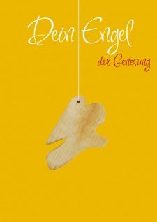 Genesungskarte Engel-Anhänger Holz (5 Stück) Genesungswünsche Grußkarte Kuvert