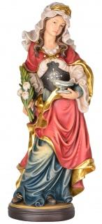 Heilige Ottilie Heiligenfigur Holz geschnitzt Schutzpatronin Klostergründerin