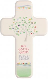 Kinderkreuz Mit Gottes gutem Segen Holz 18 cm Kommunion Geschenkverpackung