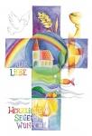 Postkarte Glasmagnet Kommunion (3 Stck) Glückwunschkarte Erstkommunion Grußkarte