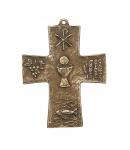 Wandkreuz Symbolkreuz 10 cm Bronze Erstkommunion Geschenk Kreuz Limberg Eva