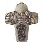 Kommunionkreuz Kreuz Jesus lädt uns alle ein Bronze 11 cm Erstkommunion Bronzekreuz