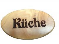 Türschild Küche Olivenholz aus Bethlehem 6 x 10 cm Handarbeit