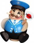 Räuchermännchen Polizist 12 cm Seiffen Erzgebirge Handarbeit Holzfigur