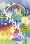 Postkarte Kommunion Glasmagnet (3 Stck) Glückwunschkarte Erstkommunion Grußkarte